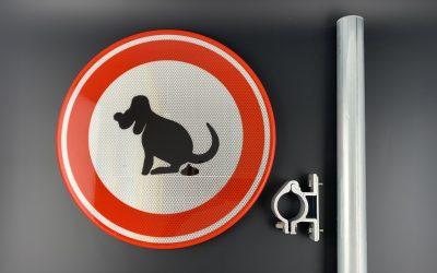 Verkeersbord hond