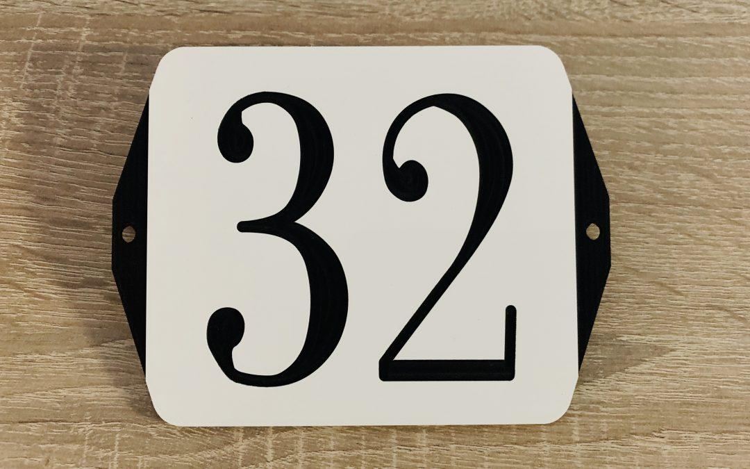 Retro huisnummer